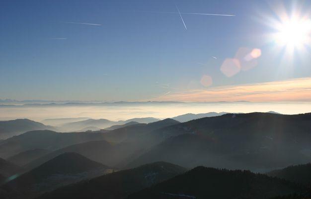 004 Blick vom Belchen zu den Alpen