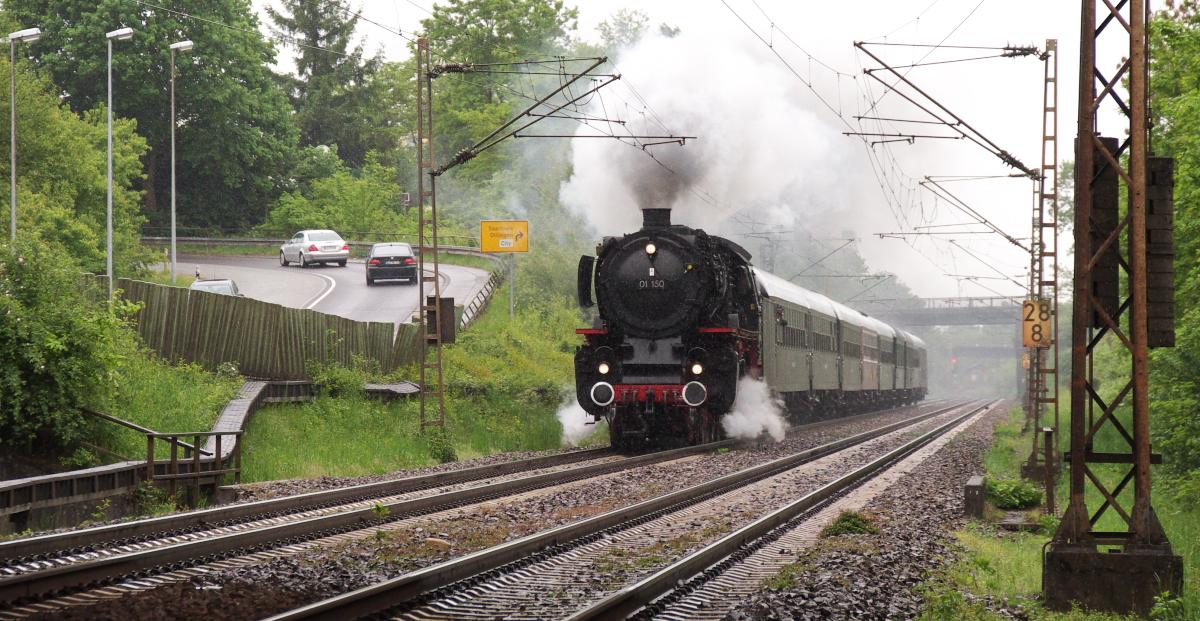 01 150 im Saarland unterwegs