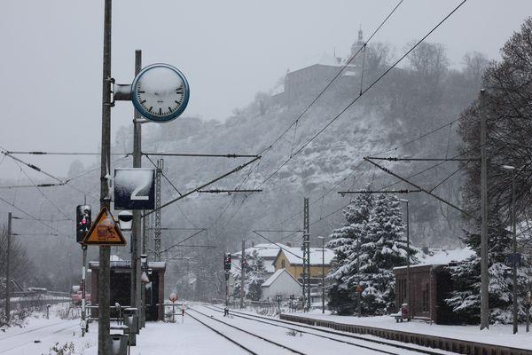 0169 - Bhf. Dornburg/Saale im Winter
