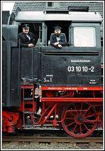 03 1010 Onkel Rudi und Ralf 28.02.1982 Jungfernfahrt als Kohlelok