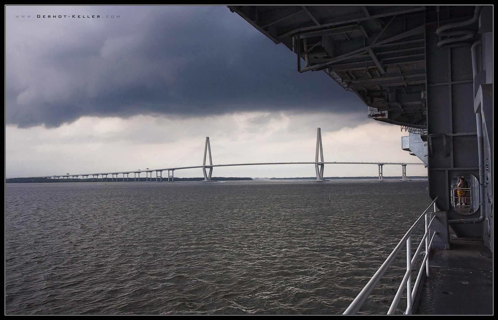 07439 - Heavy Rain over the Yorktown, Charleston