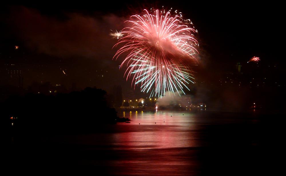 1. August Feuerwerk am Bodensee