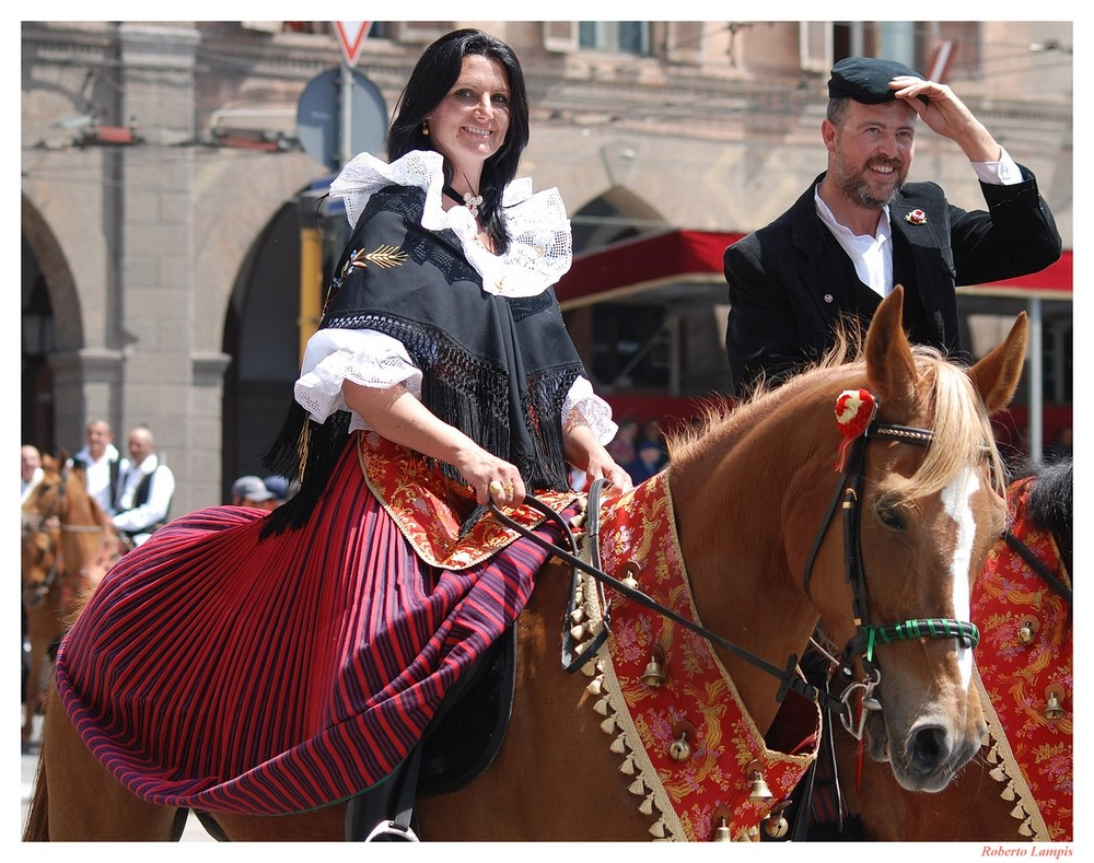 1 Maggio 2008 - Sagra di Sant'Efisio a Cagliari - Sorrisi a cavallo