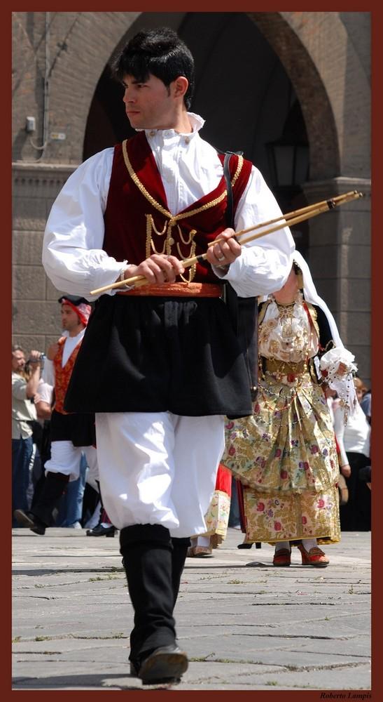1 Maggio 2008 - Sagra di Sant'Efisio a Cagliari - Suonatore di Launeddas