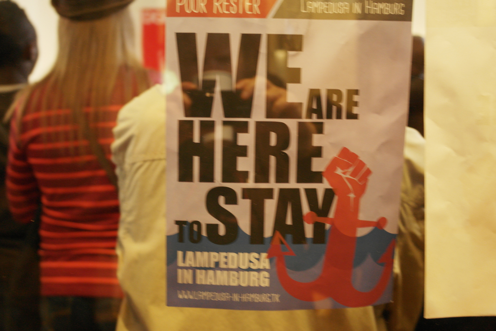 1. Mai-Demonstration 2014, Hamburg, im Gewerkschaftshaus