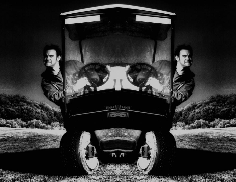 1 Mann - 1 Auftrag - 1 Golfwagen