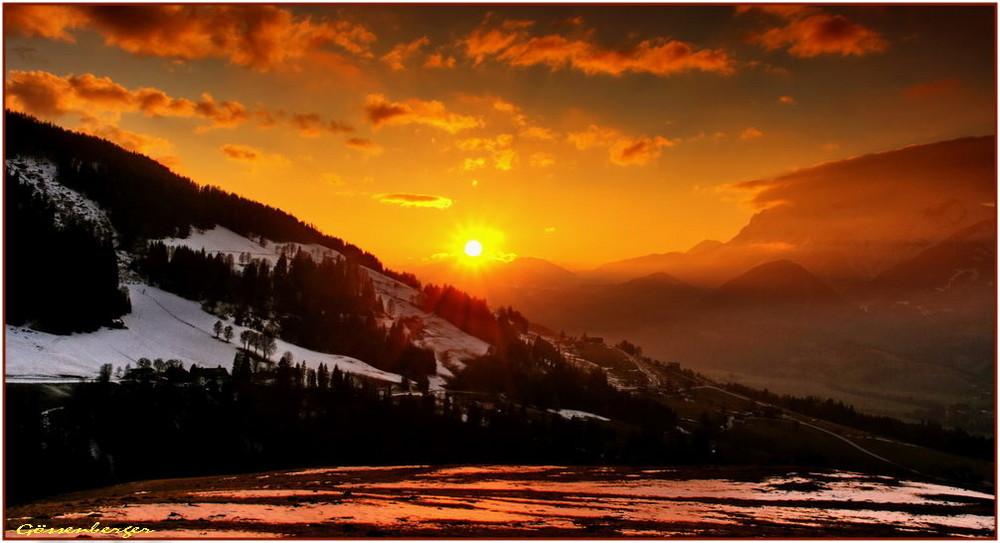 1 Minute vor Sonnenuntergang