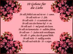 10 Gebote der Liebe