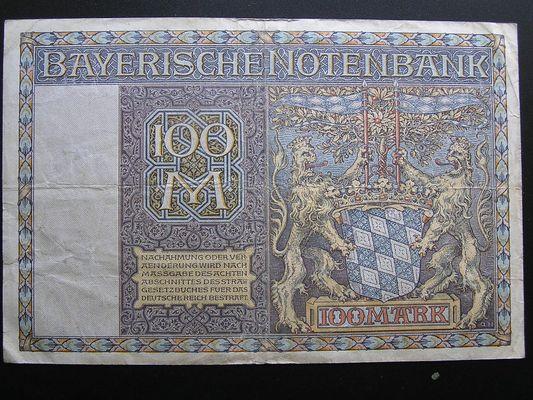 100 Mark Bayerische Notenbank