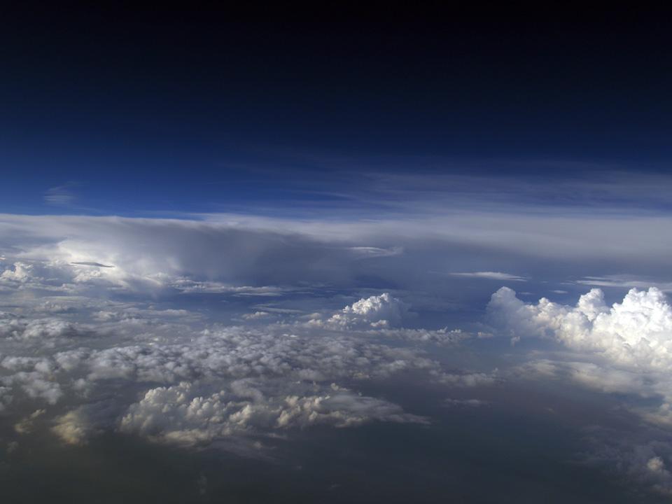 10.000 Meter über Deutschland
