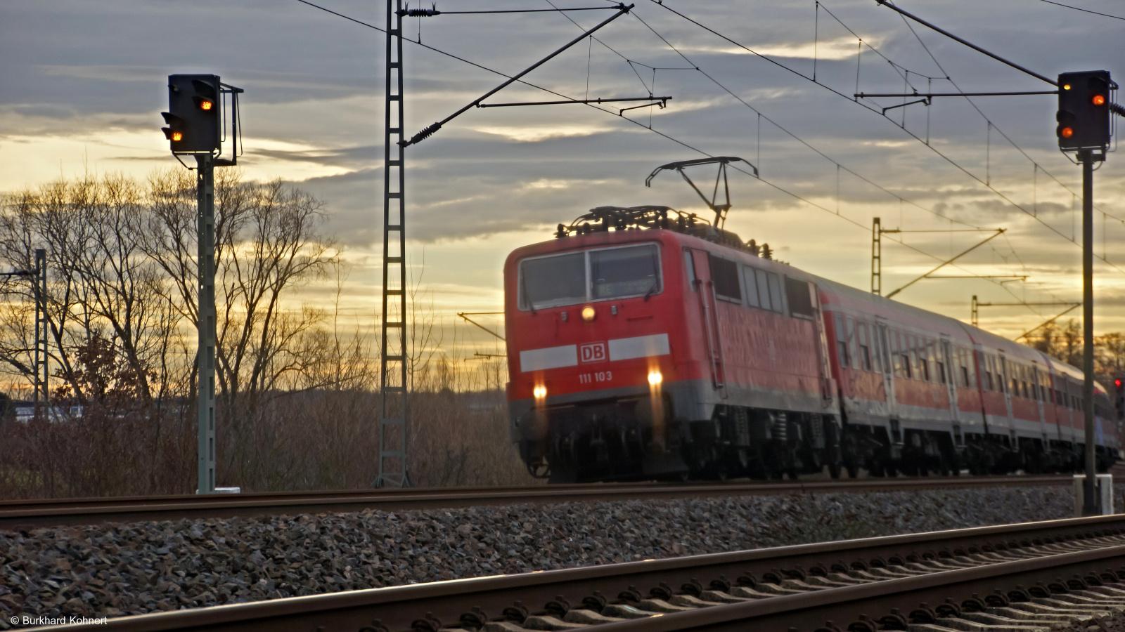 111 103 mit RE nach Frankfurt