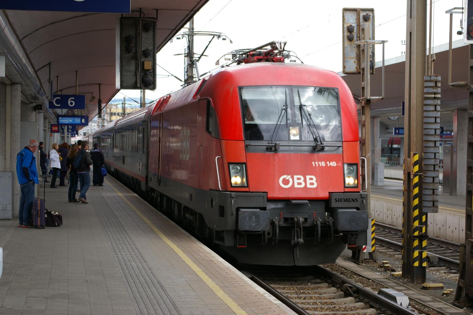 1116 149 nit Zug 546 am 04.05.2014 ankommend in Linz