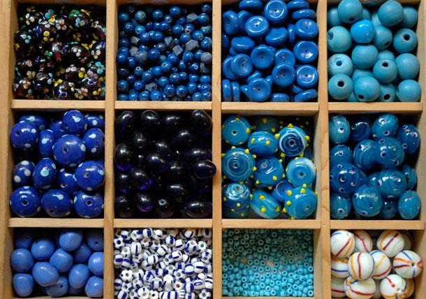 12 Farben: Blau
