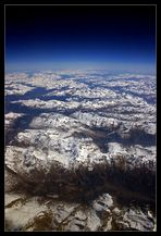 12.000m über den Alpen