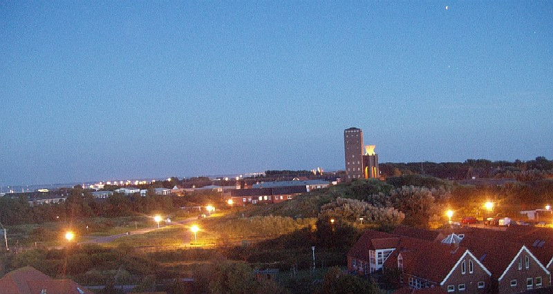 12.08.2007 ca. 23.30 Uhr Blick aus der 5. Etage über Norderney