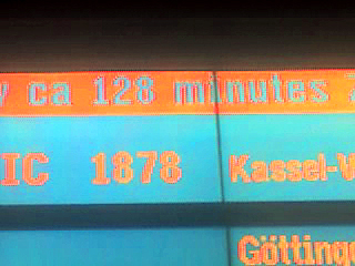 128 minuten Verspätung