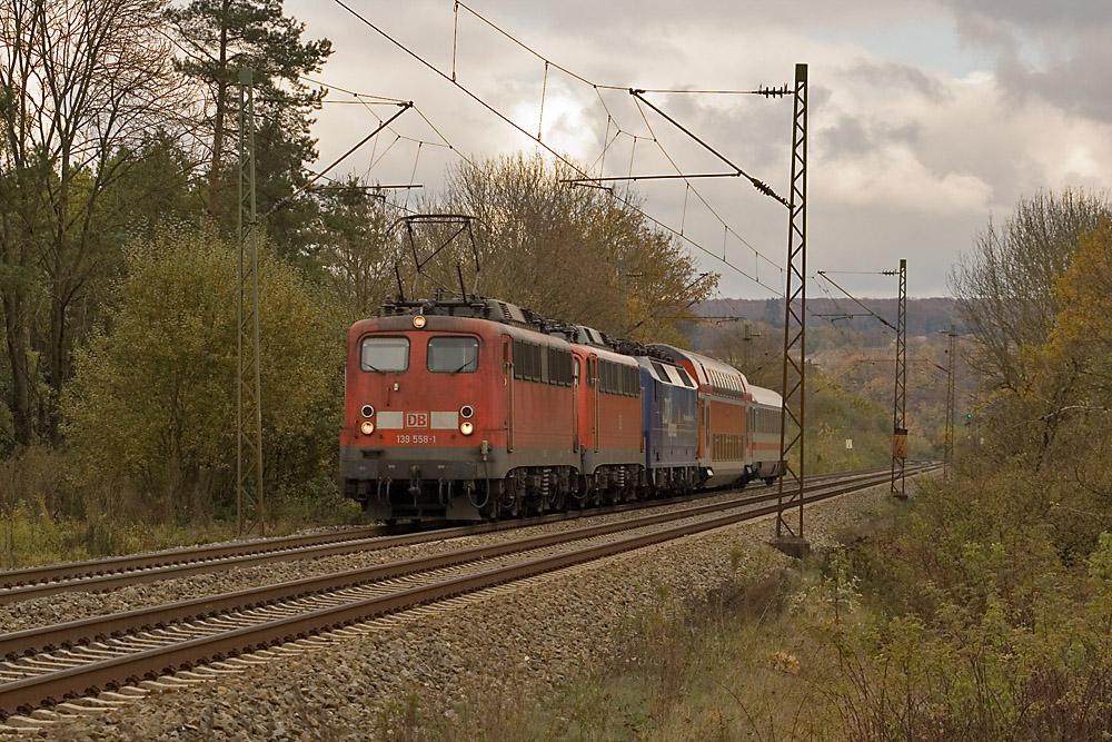139 558-1 mit PbZ bei Vorderdenkenthal