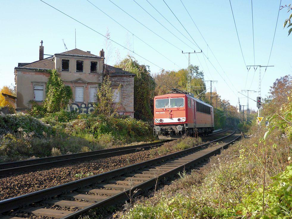 155 139-9 LZ in Richtung Dresden Friedrichstadt