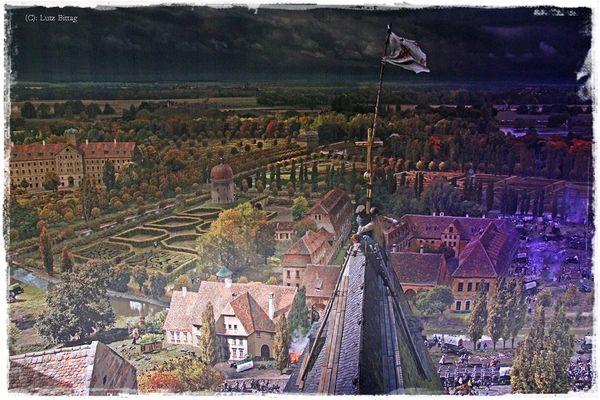 1813 - Auf dem Dach der Thomaskirche Leipzig