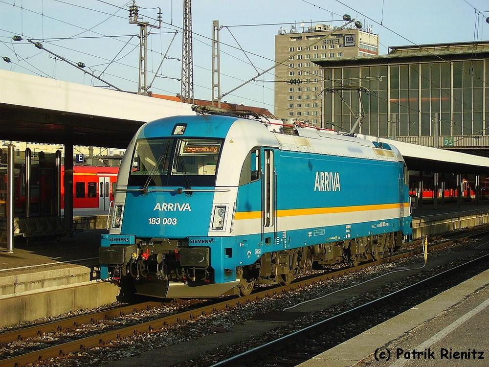 183 003 ARRIVA alex in München Hbf