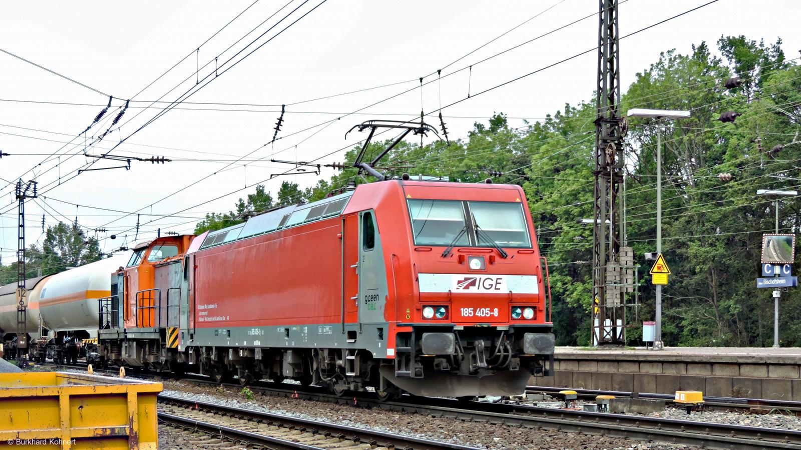 185 405-8 IGE Green Cargo + eine Diesellok