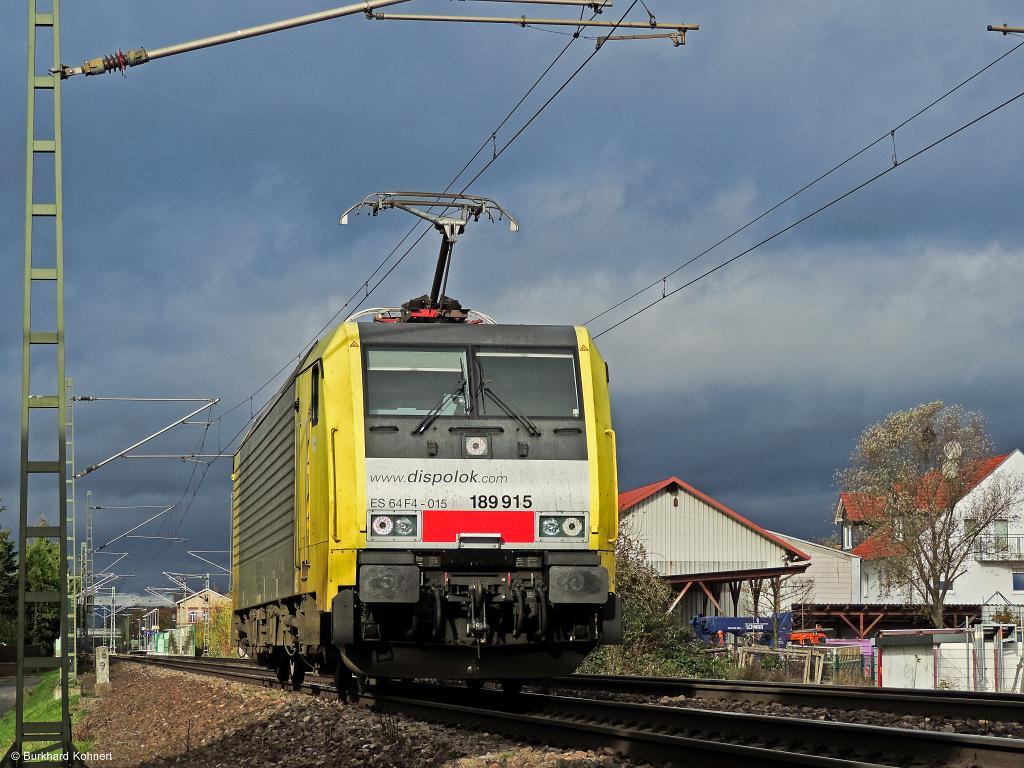 """189 915 ES 64 F4 - 015 - """"Flucht"""" vor dem großen Regen"""