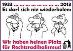 1933 - 2013 Keinen Platz!