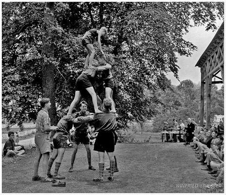 """1955 St.Georg-Pfadfinder in Bröleck-Bergisches Land -""""Lagerzirkus"""" (2)"""