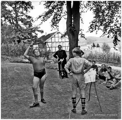 """1955 St.Georg-Pfadfinder in Bröleck-Bergisches Land -""""Lagerzirkus"""" (4)"""