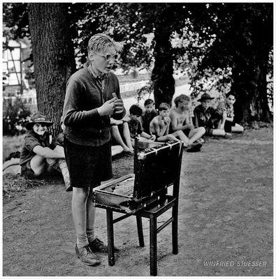 """1955 St.Georg-Pfadfinder in Bröleck-Bergisches Land -""""Lagerzirkus"""" (5)"""