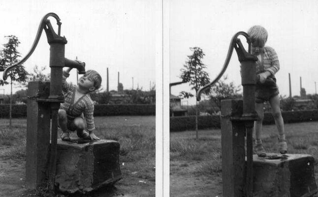 1959 an der Pumpe
