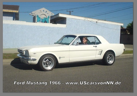 1966 FORD MUSTANG COUPE WHITE hier noch in USA