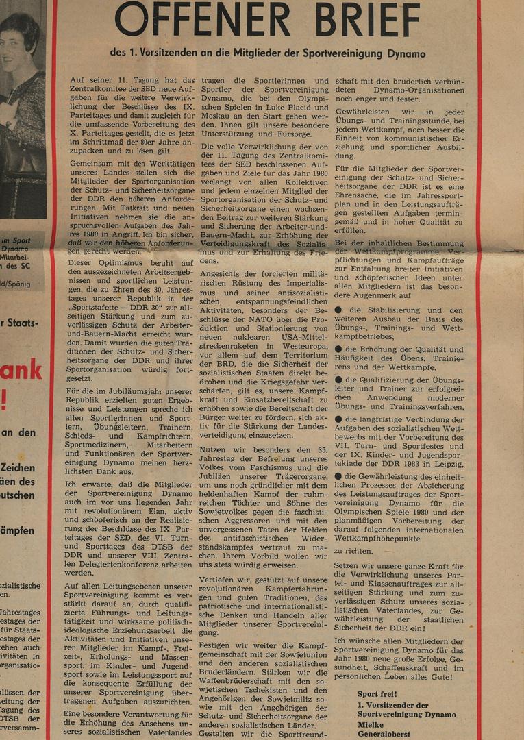 1980 aus einer Sportzeitung :