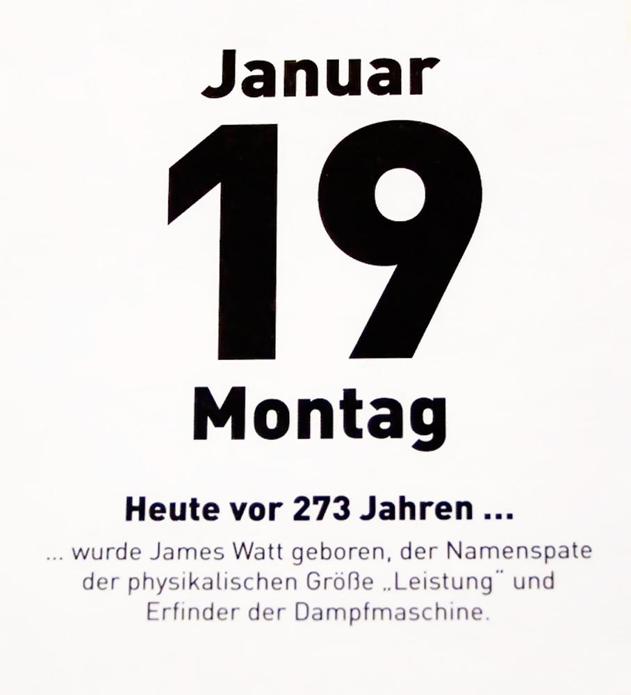 19.Januar vor 273 Jahren