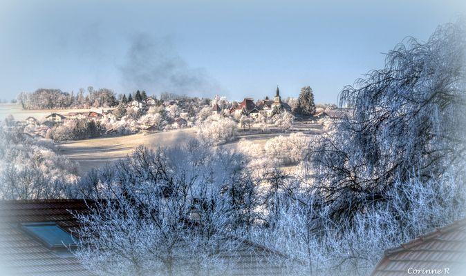 1er janvier 2017, 9h00, ciel bleu et givre.... - 8°