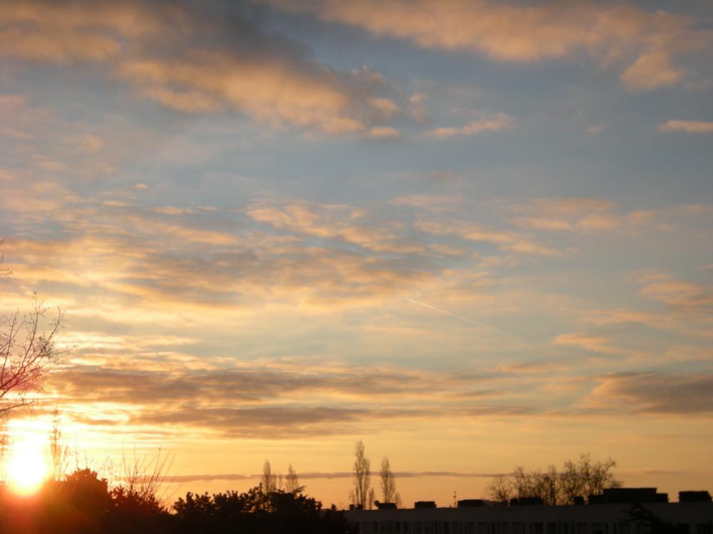 1er lever de soleil de l'hiver