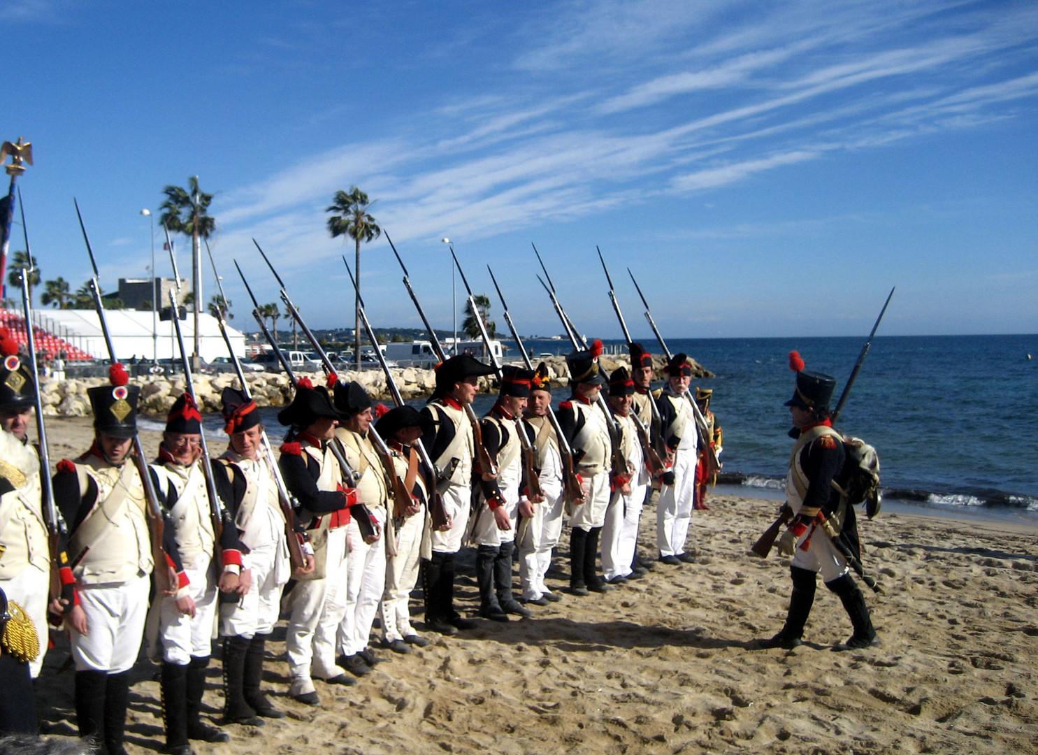 1er Mars 1804 NAPOLEON débarque à Golfe Juan (06)