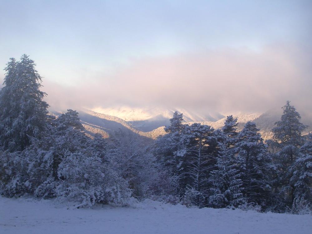1ère neige fin octobre alpes de hautes provence 2