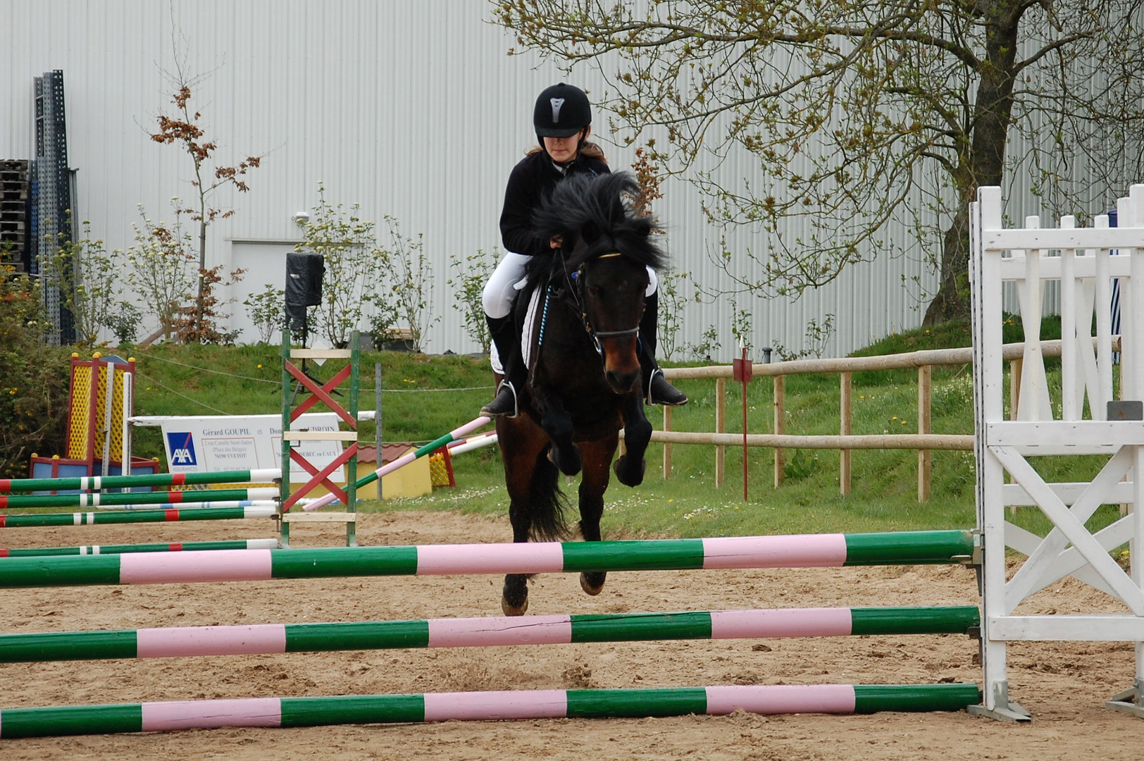 1ère participation Club Poney 2 Vitesse de ma fille et Jéronimo