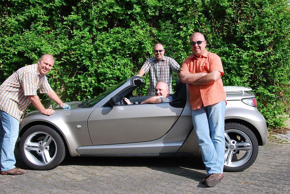1x smart Roadster, 4x Daniel