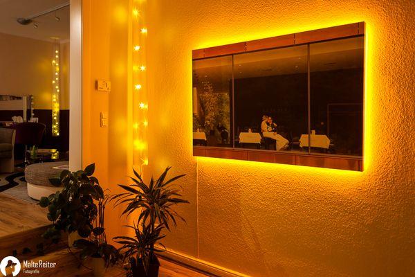1,x5m Foto auf Leinwand mit LED-Beleuchtung