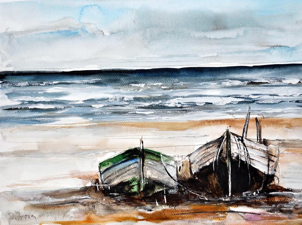 2 Boote am Strand