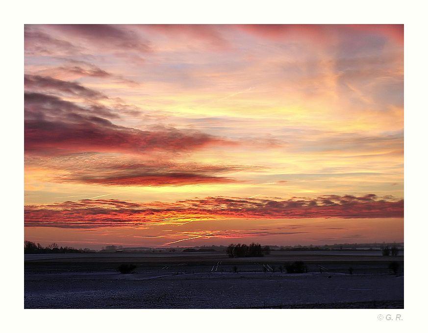 2.) Farbenrausch am Himmel,