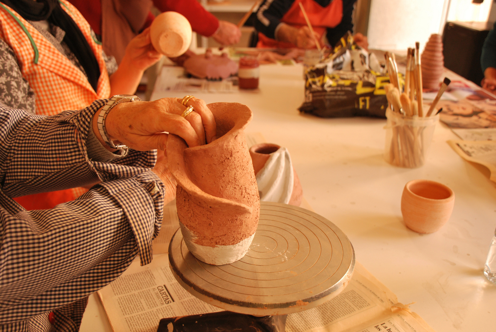 2 Pintado RAKU Ceramica Japonesa