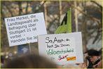 2 Plakate: MERKELS Volksentscheid - K21 Stuttgart 28.3.11