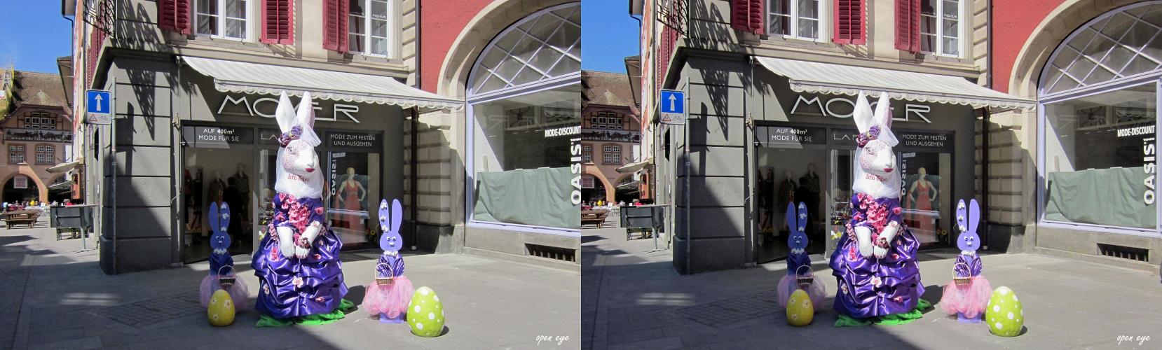2. Platz 2014 Bella Festina Osterhase in Aarau / Kt. AG / Schweiz /  X View