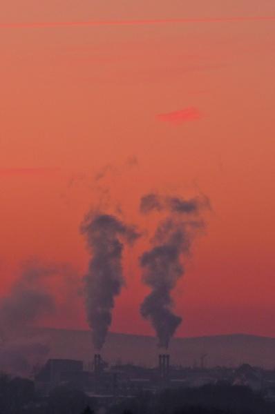 -20 Grad und der Himmel brennt