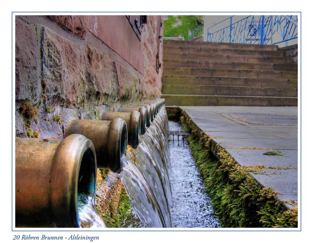 20 Röhren Brunnen Altleiningen