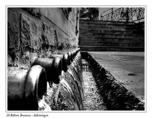 20 Röhren Brunnen Altleiningen in SW