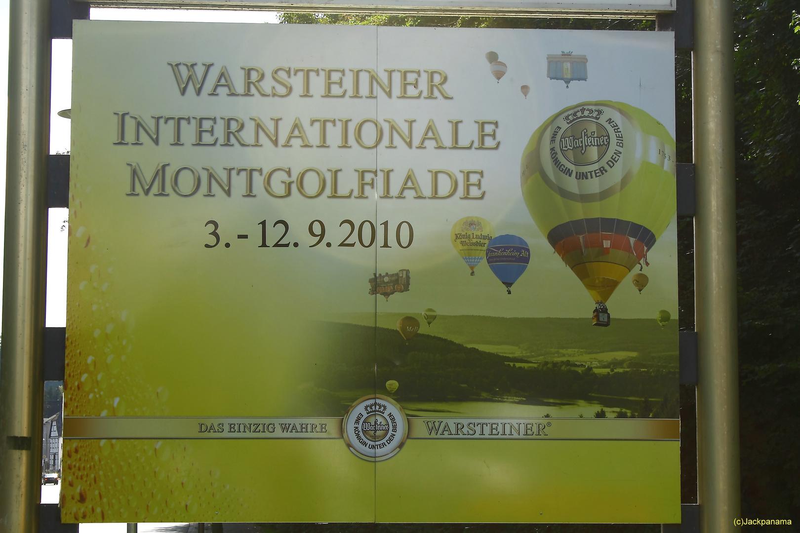 20. WARSTEINER INTERNATIONALE MONTGOLFIADE